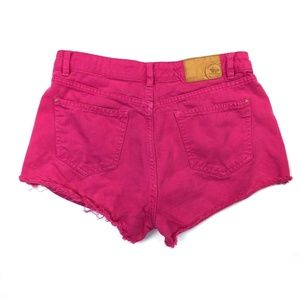 Zara Shorts - Zara High Rise Distressed Denim Jean Shorts